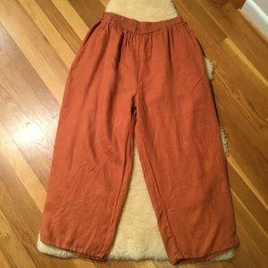 Vintage Flax pumpkin spice linen pants